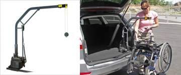 Grue fixe pour chargement fauteuil roulant avec levage motorisés Carolift 90 Morcenx