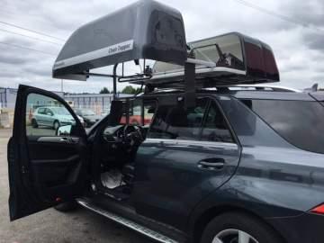 Coffre de toit pour charger des fauteuils handicapé à Dax